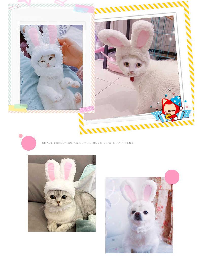 Atyhao Cappello da Gatto Cappello per Orecchie da Coniglio Costume da Festa per Animali Copricapo per Gatti e Cani di Piccola Taglia
