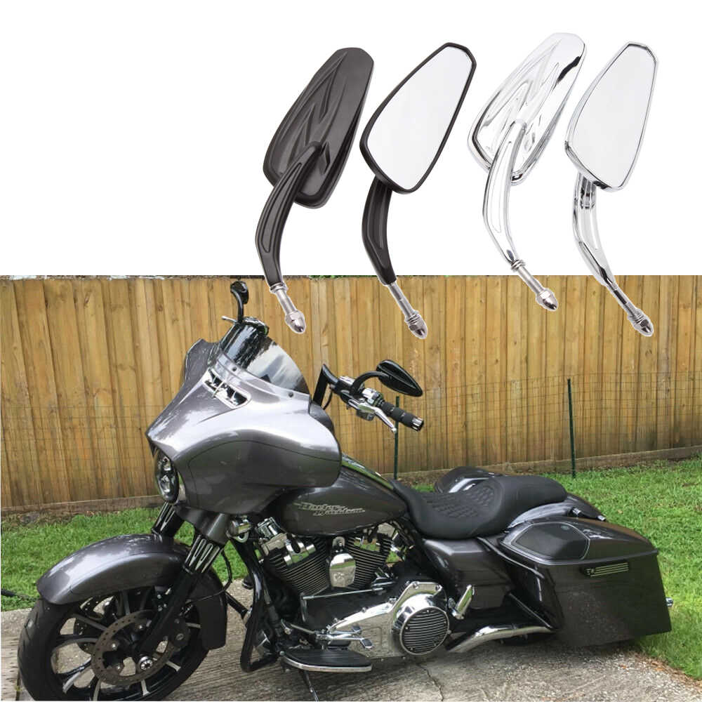 Mirrors Teardrop Chrome For Harley Davidson Softail Springer Heritage Classic