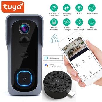 Tuya Wi-Fi Smart Video Doorbell 1080P Support Google Alexa Chromecast Voice Control Home Night Vision - discount item  25% OFF Intercom