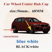4pcs 56mm 68 MILÍMETROS Carro preto/branco Centro de Roda Tampa do Cubo Tampa emblema Emblema Para E46 E39 E38 E90 E60 E36 F30 F30 E34 F10 E92 E38 E91