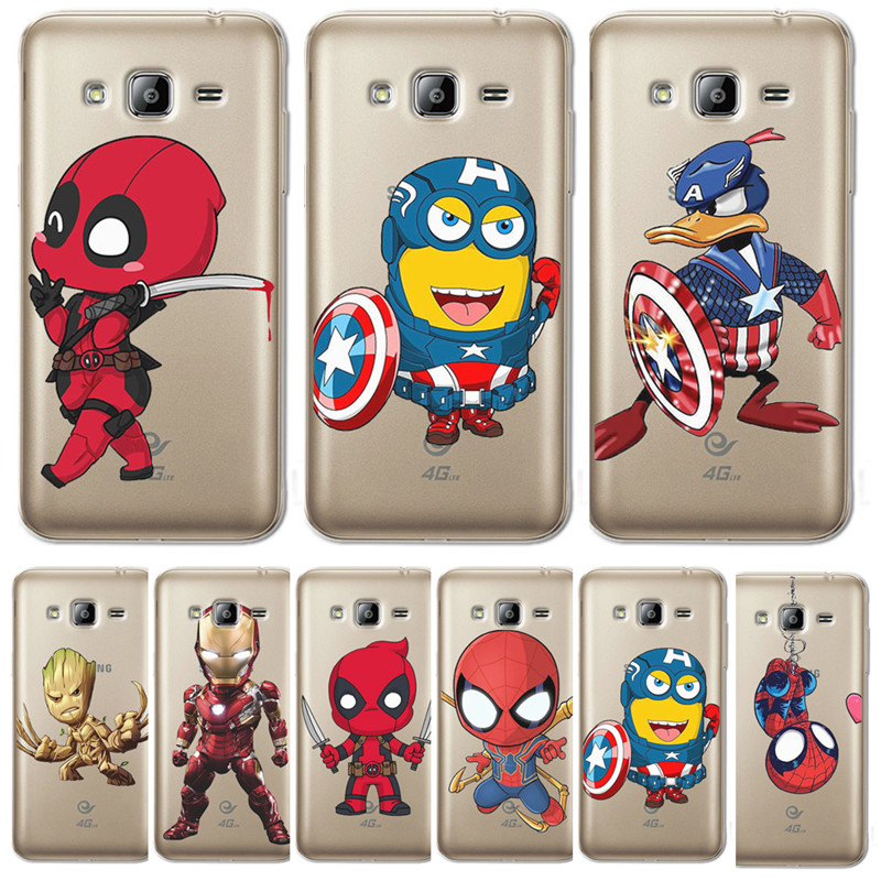 Deadpool <font><b>Marvel</b></font> cartoon Für <font><b>Samsung</b></font> <font><b>Galaxy</b></font> J3 J4 <font><b>J5</b></font> J6 J7 J8 Plus 2016 <font><b>2017</b></font> 2018 J2 Prime telefon Fall abdeckung Coque Etui funda capa image