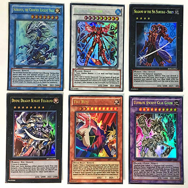 Tarjeta de guerra YU GI OH 100 Uds. No repetición tarjeta inglesa Yugi Muto Tarjeta de colección de edición completa niños juguete regalo tarjeta flash completo raro