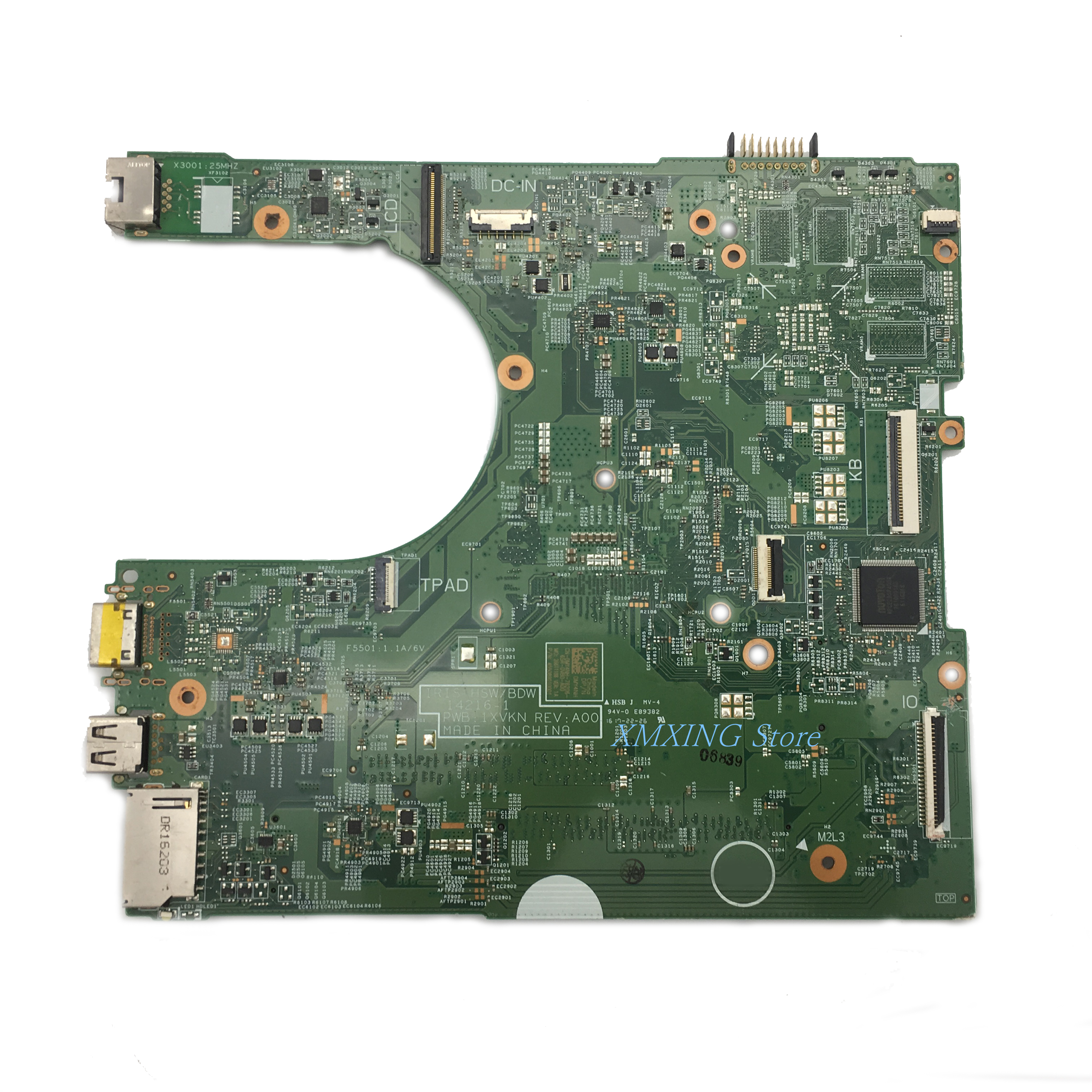 FULCOL For DELL INSPIRON CPU I3 3458 3558 Laptop Motherboard CN-0MY4NH CN-0MNGP8 0MNGP8 0MY4NH MY4NH 14216-1 Tested 100% work 2
