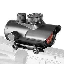 Docter-mira holográfica de punto rojo, mira de 1x30mm, montura de Weaver carril de 11mm y 20mm para óptica de caza táctica 5-0040