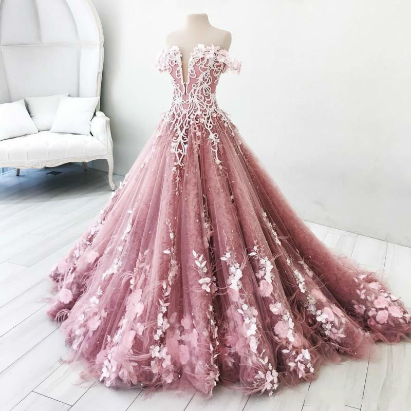 BGW 2241ht Butterfly Flowers Appliques Ball Gown Masquerade Quinceanera Dresses Off Shoulder Backless Floor Length Pageant GownsQuinceanera Dresses   -