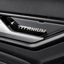Lsrtw2017-manija de puerta Interior de coche, cubierta de embellecedor de Panel para Ford Territory 2019 2020 2021, accesorios de decoración de estilo automático
