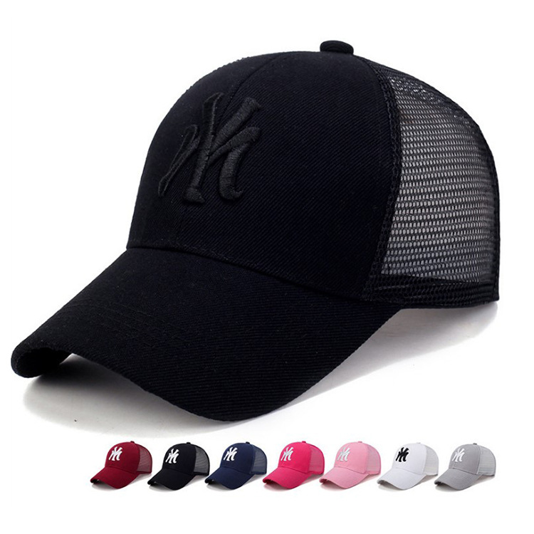 Spring Summer Unisex Baseball Caps Letter Mesh Cap Fashion Solid Embroidery Adjustable Hat Women Men Cotton Casual Hats