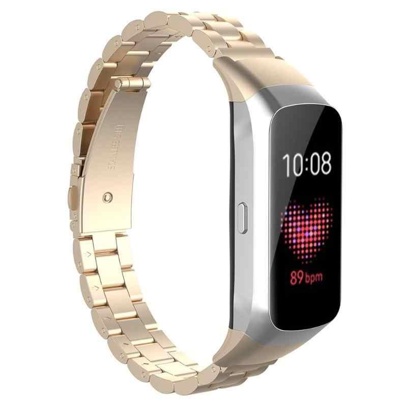 VODOOL Nuovo Acciaio inossidabile Cinturino della Cinghia Della Fascia Durevole Morbidezza Moderata Confortevole per Samsung Galaxy Fit SM-R370 Smartwatch