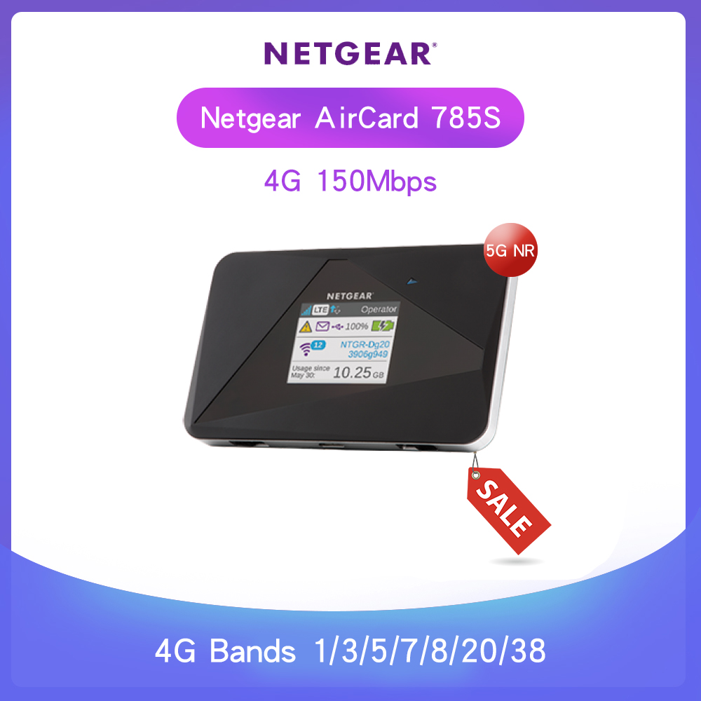 Unlocked Netgear AirCard 785S (AC785S 100EUS)LTE 4G CAT4 150Mbps Mobile Hotspot FDD 800/850/900/1800/2100/2600 MHz TDD2600 MHz