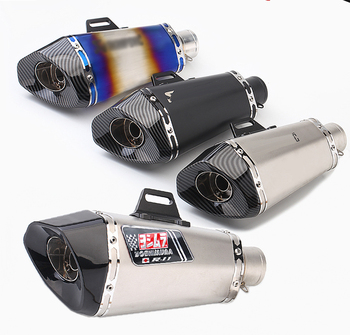 For yoshimura ak exhaust pipe motorcycle fake carbon fiber muffler escape moto DB killer aerox pitbike r11 GP ktm Universal 51MM motorcycle exhaust pipe muffler escape db killer 36mm 51mm for ducati st2 st4 s abs 748 750ss 800ss 900ss 1000ss 996 998 1098