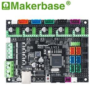 Image 2 - Makerbase 3D printer board MKS Gen L controller compatible with Ramps1.4/Mega2560 R3 support A4988/TMC2208/2209TMC2100 drivers