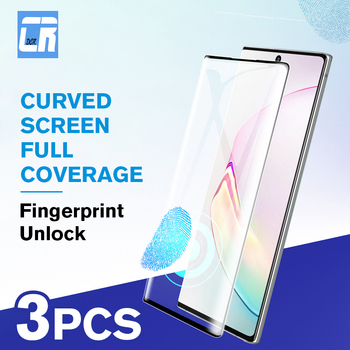3Pcs Tempered Glass For Samsung Galaxy Note 8 9 10 Plus 200D Full Curved Screen Protector Samsung S10 S9 S8 Plus Protective Film screen protection tempered glass film for samsung galaxy note 8 9 s9 s8 plus s7 pet explosion proof film full screen soft film