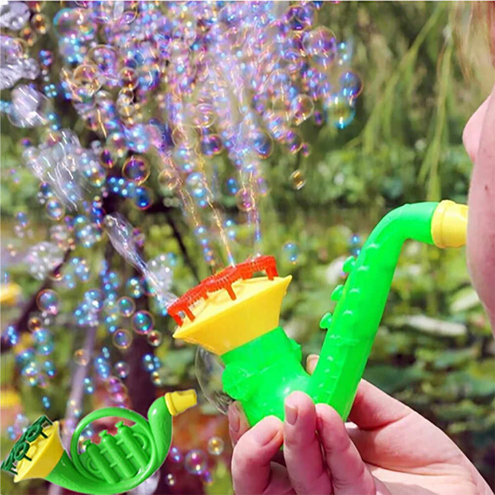 2019 New 1PCS Random Water Blowing Toys Bubble Soap Bubble Blower Outdoor Kids Toys Parent-child Exchange interactive toy