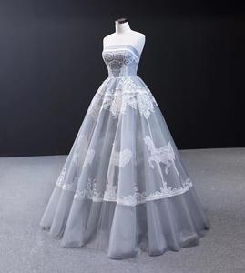 Image 4 - J66970 Jancember Grijs Avondjurk 2020 Strapless Mouwloze Applicaties Tiered Party Dress Abiti Da Cerimonia Vestidos De Noite