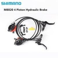 Shimano XT M8020 4 Kolben Mountainbike Fahrrad Hydraulische Scheiben Bremse Für MTB Bike Downhill DH Vordere 1000mm Hinten 1700mm-in Fahrradbremse aus Sport und Unterhaltung bei