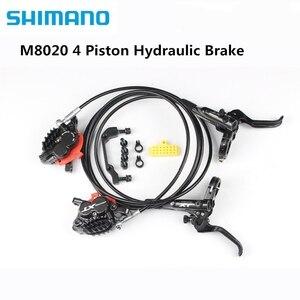 Image 4 - Shimano XT M8020 M8120 4 Piston Mountain Bike Bicycle Hydraulic Disc Brake For MTB Bike Downhill DH D03S H03C N03A N04C Pads