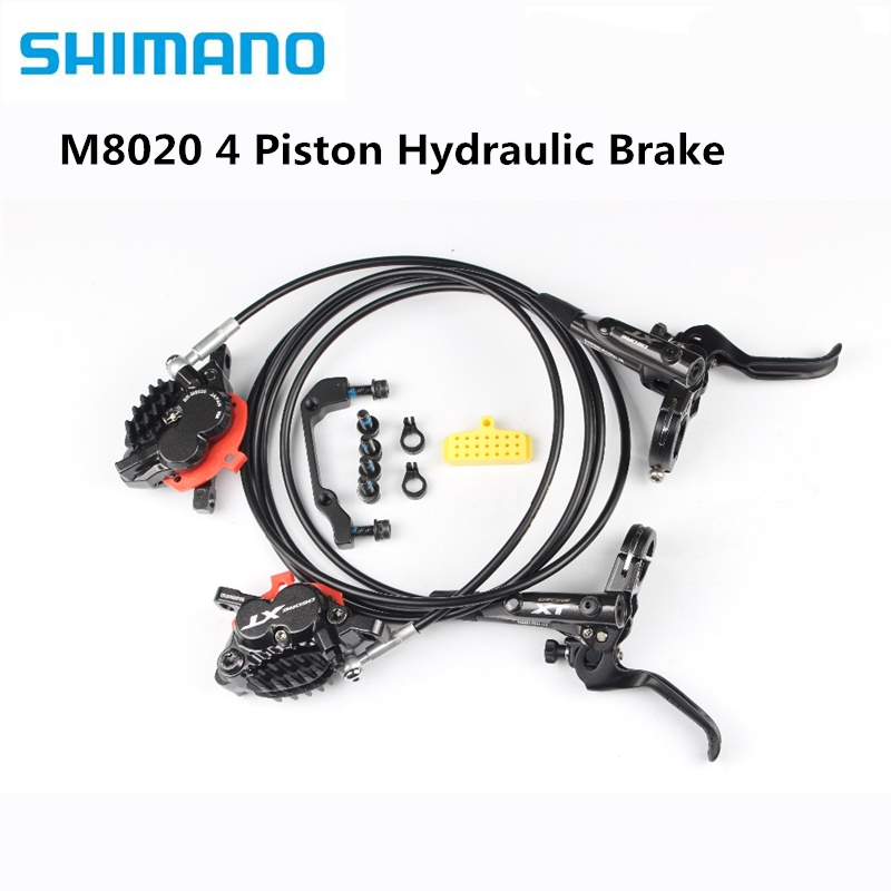 Shimano xt m8020 4 피스톤 산악 자전거 자전거 유압 디스크 브레이크 mtb 자전거 내리막 길 dh 전면 1000mm 후면 1700mm