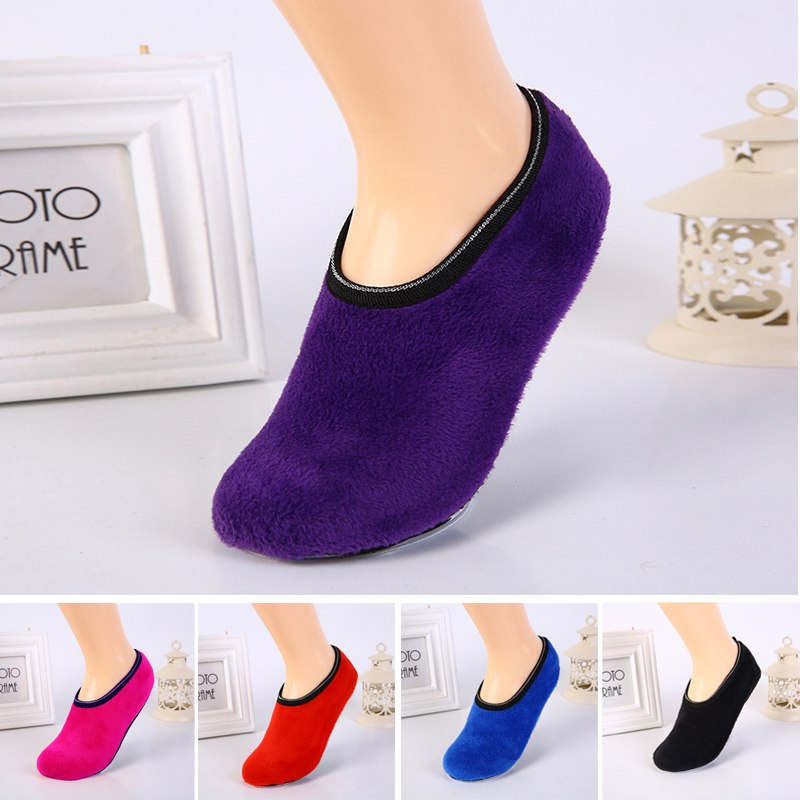 Women Slipper Socks Indoor Floor Anti Slip Ankle Low Cut Breathable Winter Sock