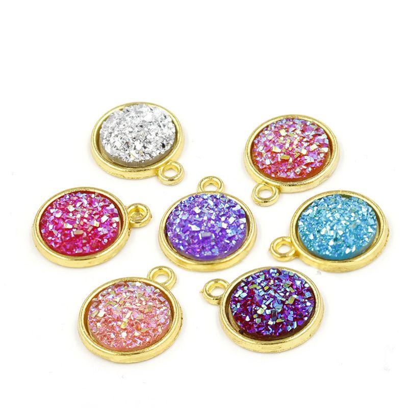 12mm cristal cluster molde plana redonda resina gem brincos molde jóias que faz a ferramenta m2ea