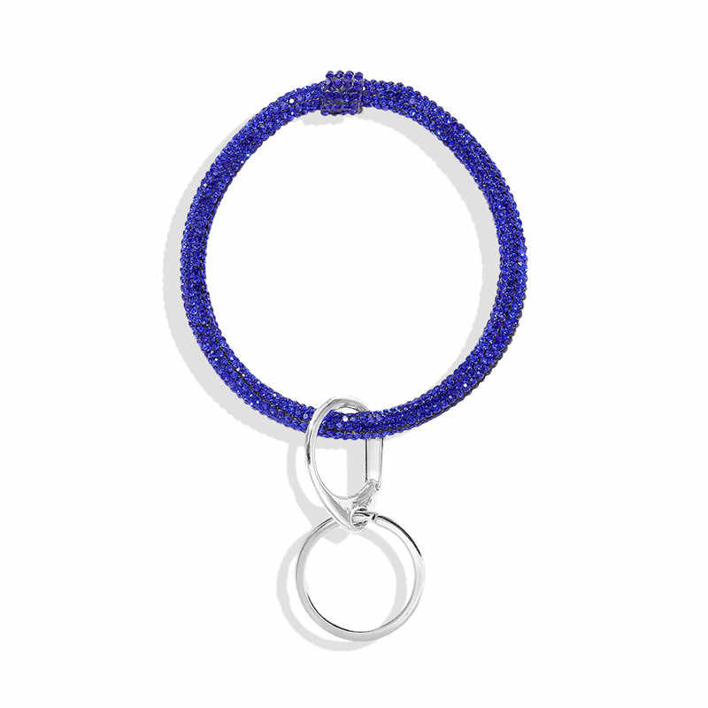 Dvacaman 9 pçs/set atacado chaveiros luxo completo artesanal cristal pulseira chaveiros grande o chaveiro promoção preço de fábrica