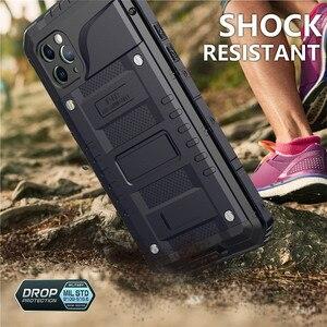 Image 4 - Funda de teléfono resistente al agua IP68 de aluminio y Metal de lujo, a prueba de golpes, para iPhone SE 2 11 Pro Max XR 6X6S 7 8 Plus XS Max