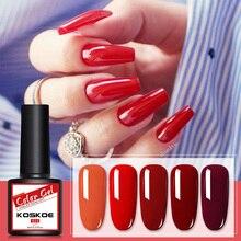 УФ-гель для ногтей KOSKOE, 120 цветов, коричневый, синий, красный, розовый, зеленый, желтый блеск для ногтей, голографический отмачиваемый УФ-гель ...