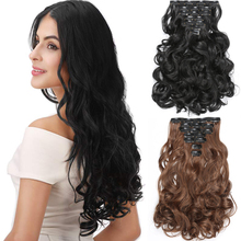 LISIHAIR Synthetic 16 Clips Long Wavy Ponytail Hair Extension Clip In Hairpiece Wigs For Women Heat Resistant Blonde Wig Hair