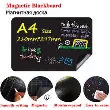 Mini pizarra magnética tamaño A4, calcomanía para refrigerador, planificador semanal, calendario, sin polvo