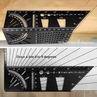 Multifunktionale Winkel Lineal 45 90 Grad Aluminium Legierung Genaue Holzbearbeitung Platz Winkel Herrscher Kennzeichnung Gauge Schreiner Werkzeug