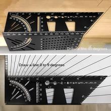 Règle dangle multifonctionnelle en alliage daluminium, règle dangle précise pour le travail du bois, jauge de marquage, outil de menuiserie, 45 à 90 degrés