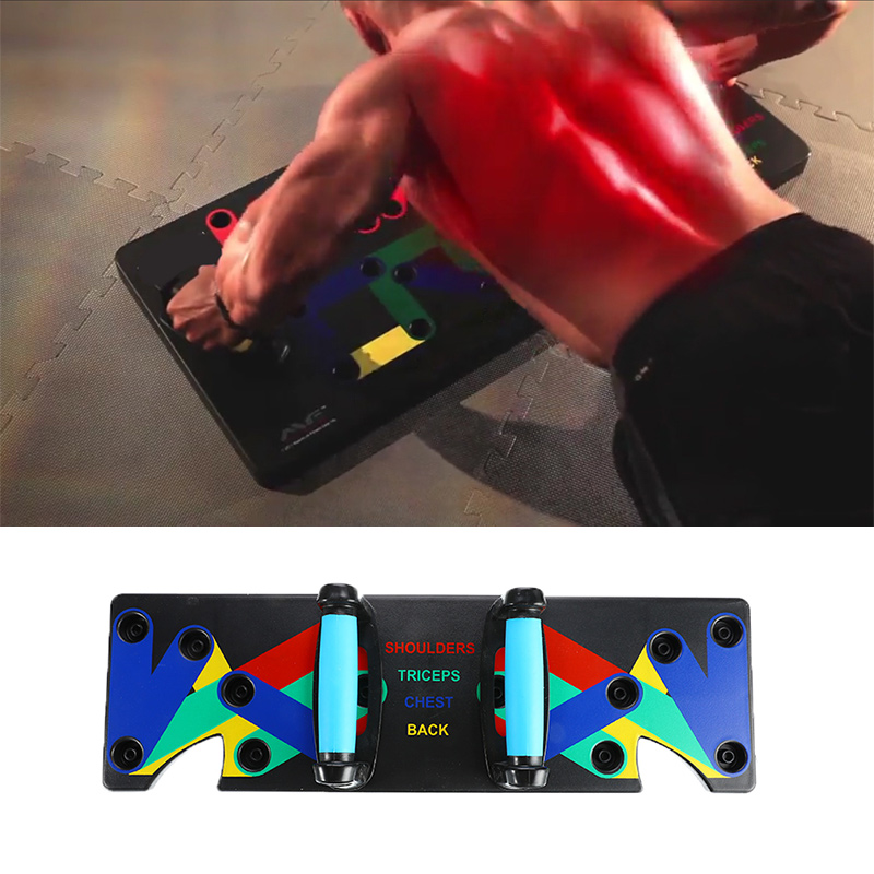 1 Set Push Up Rack Board System Relax Muscle Instruments Training Gym Exercise Push-Ups Stand For GYM Body Training Tool