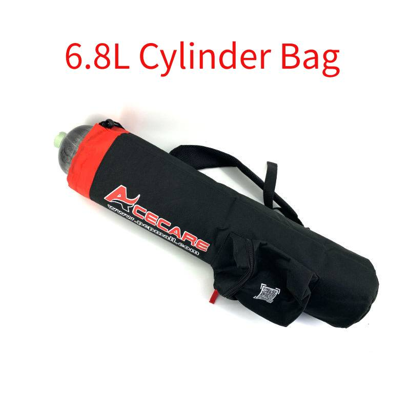 AC8004 6.8L High Pressure Cylinder Bag Scuba Diving Carbon Fiber Tank Pcp Air Rifle Gun Compressed Air Tank Black Bag Acecare