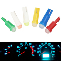 1 Pcs Car bulb ceramic T5 car led dashboard light makeup light T5 1SMD 3D astigmatism COB indicator