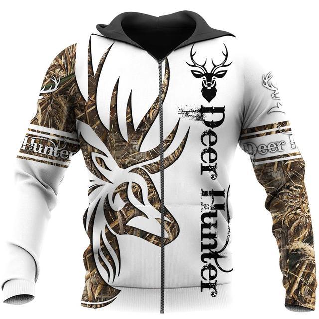 Deer Hunter Tatoo 3D - Sweatshirt, Hoodie, Pullover 3
