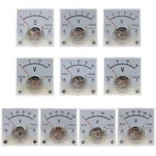 91c4 dc voltímetro painel analógico medidor de tensão tipo ponteiro mecânico 3/5/10/15/20/30/50/100/150/250v 83xa
