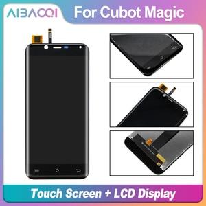 Image 2 - AiBaoQi yeni orijinal 5.0 inç dokunmatik ekran + 1280x720 LCD ekran meclisi değiştirme Cubot sihirli Android 7.0 telefon