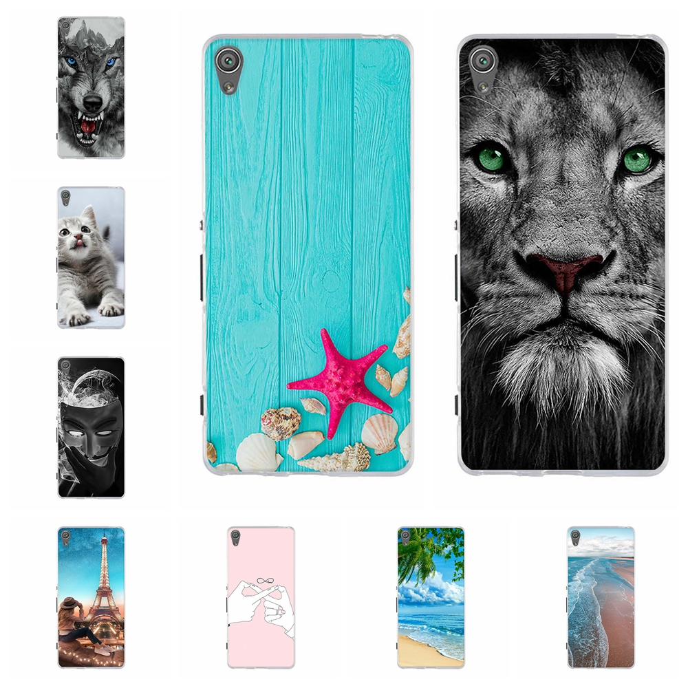 For Sony Xperia XA Case Soft TPU Silicone F3111 F3113 F3115 Cover Scenery Patterned Capa