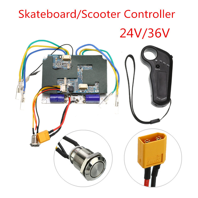 Electric Skateboard Controller Double Motor Remote ESC Substitute Scooter Controller Accessorie 24V/36V