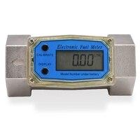 BHTS Digital Flowmeter K24 Electronic Liquid Turbine Meter Electronicflowmeter 1.5 Inches Fuel Oil Flow Meter 40 280L/Min