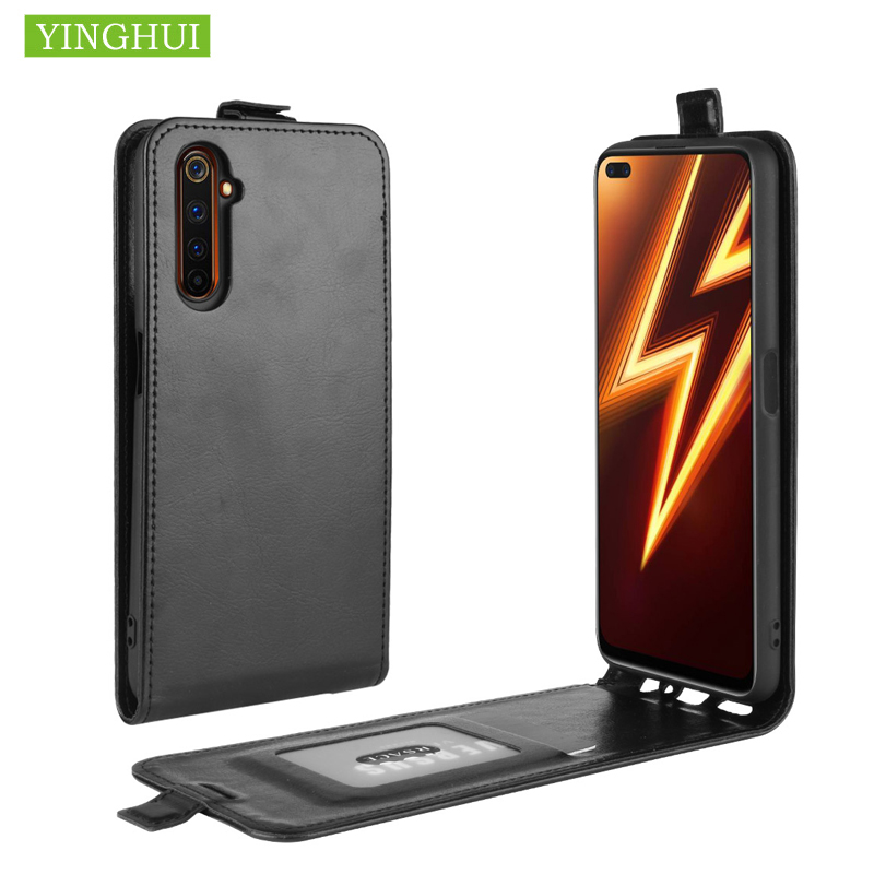 For <font><b>OPPO</b></font> <font><b>Realme</b></font> C3 Retro Leather Silicone Magnetic Vertical Flip Case For <font><b>OPPO</b></font> A8 A31 A91 F15 <font><b>Realme</b></font> 6 Reno <font><b>3</b></font> Pro <font><b>Phone</b></font> Bag image