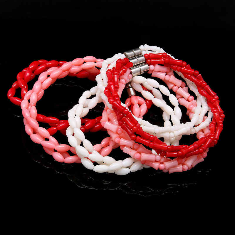 2019 New High Quality Coral Stone Beads Bracelets for Women Fashion Natural Coral Bracelets Bangles Women Jewelry Gifts