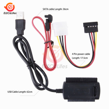 "SATA/PATA/IDE к USB 2,0 адаптер конвертер кабель для жесткого диска 2,"" 3,5""/2,5 дюйма"