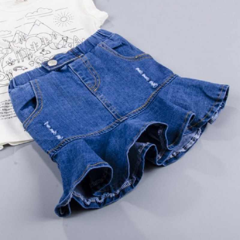 New Girls Denim Skirts Summer Style Kids Clothes Toddler Girl Blue Jean Tutu Skirt Baby children fashion fish tail skirt