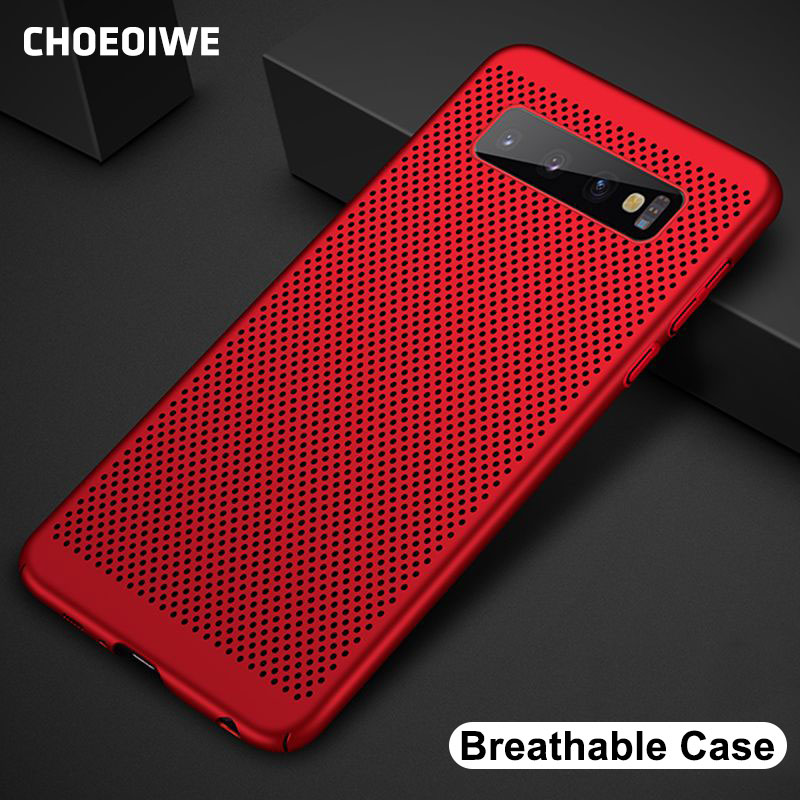 CHOEOIWE Ultra-thin Cooling Phone Case for Samsung Galaxy A30 A10 A50 A8S A6S M10 M20 S10 Lite Plus Breathing Case Hard Cover image