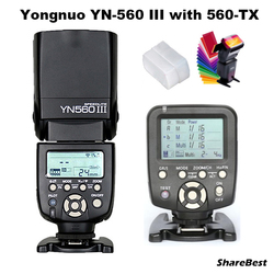 YongNuo YN-560 III Flash Speedlite with YN-560TX  Wirelss Transmitter for Nikon Camera