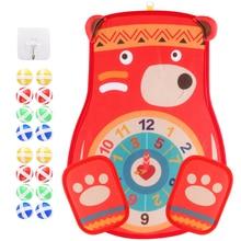 Dart-Board Velco-Toy-Set Preschool Sport-Game Foldable Baby Education Outdoor Child Kid
