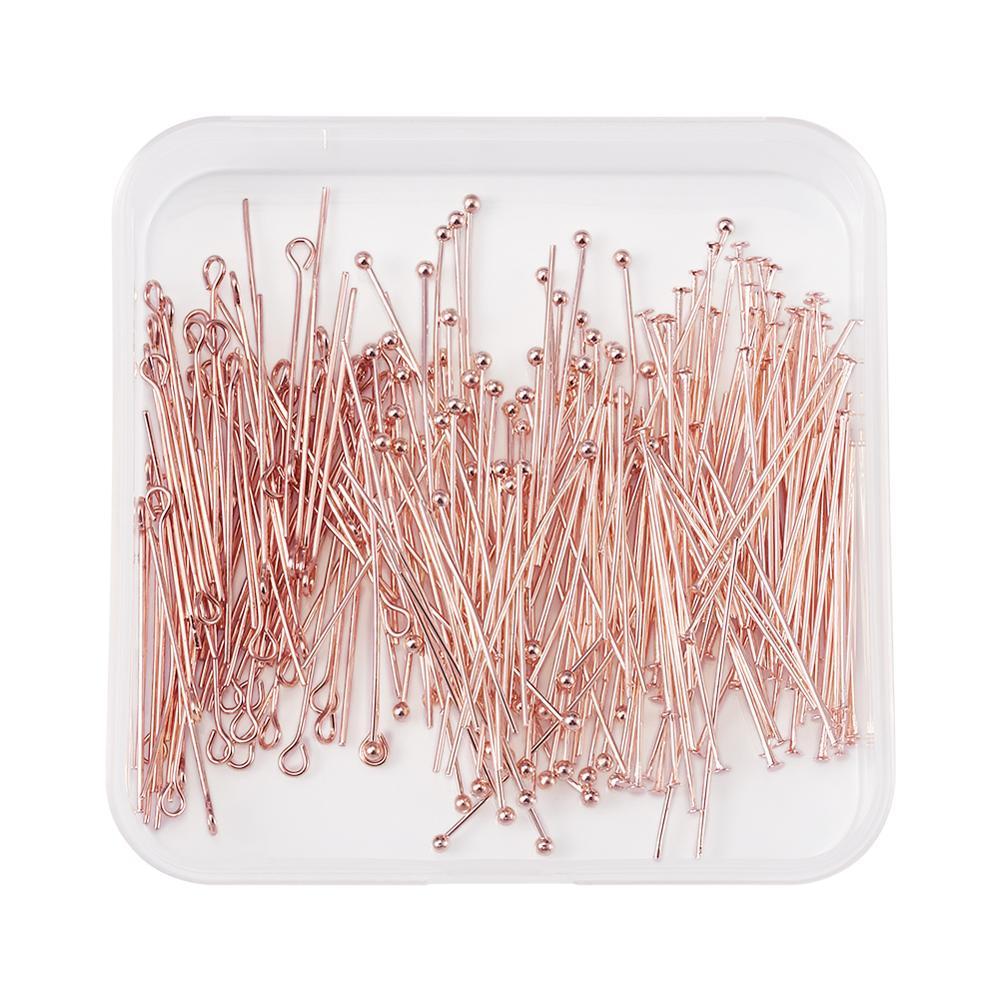 300 шт/компл из розового золота латунные шаровые шпильки для
