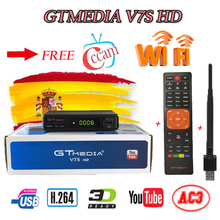 Spain delivery Satellite TV Receiver Gtmedia V7S HD Receptor