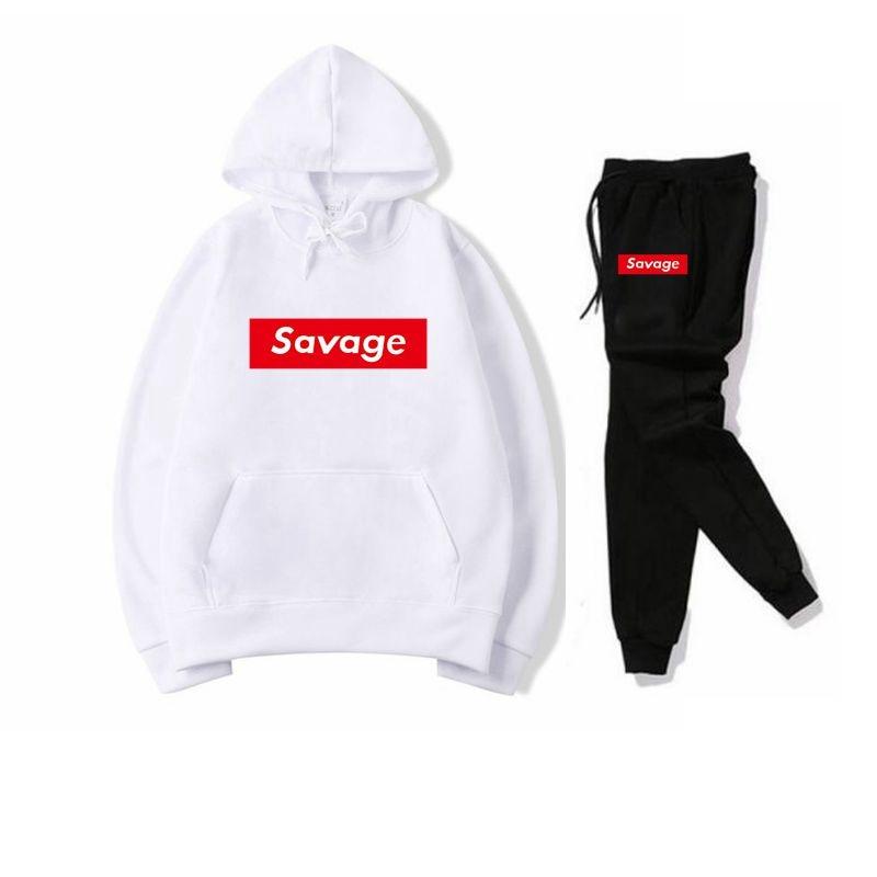 2019 New Mens Hoodies Savage Hoodies Parody No Heart X Savage Mode Slaughter Gang ATL Cotton Long Sleeved Hoodies Suprem