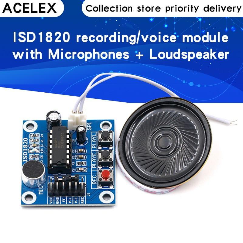 Модуль записи ISD1820, голосовой модуль, плата голоса, плата модуля телефона с микрофонами + громкоговорителем